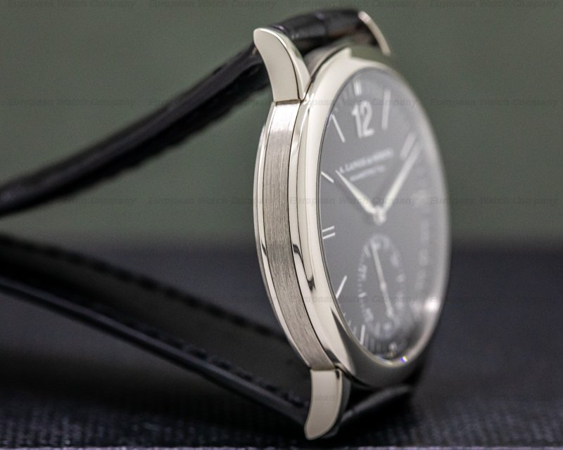A. Lange and Sohne 301.027 Langematik 18K White Gold Black Dial