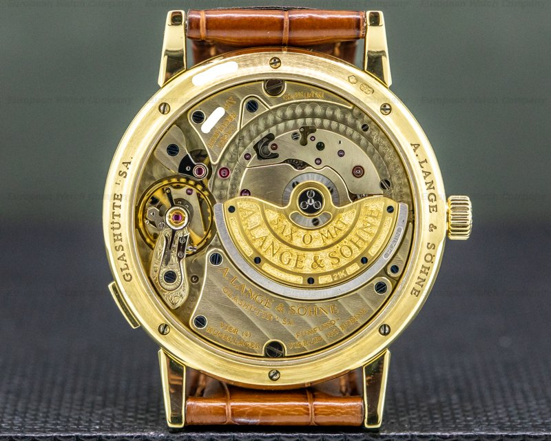 A. Lange and Sohne 308.021 Langematik Big Date 18K Yellow Gold / Deployment Buckle