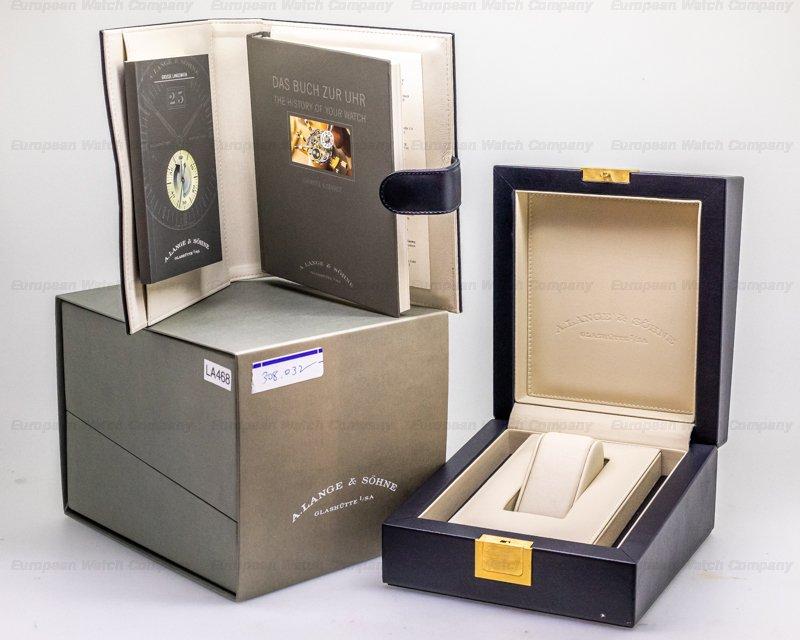 A. Lange and Sohne 308.032 Langematik Big Date Sax-O-Mat 18K Rose Gold