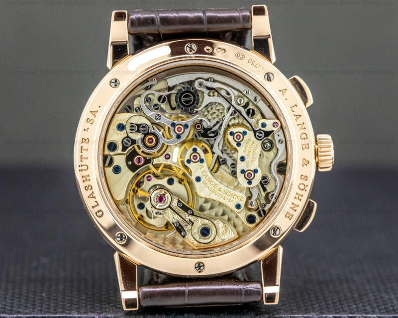 A. Lange and Sohne 402.032 1815 Chronograph 402.032 18K Rose Gold Silver Dial
