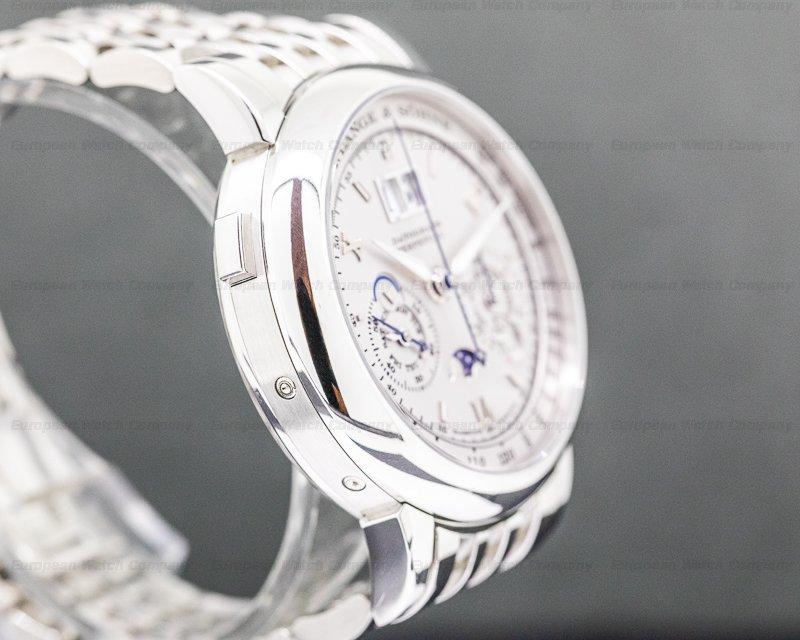 A. Lange and Sohne 410.025 Datograph Perpetual Calendar Chronograph 410.025 Platinum Bracelet