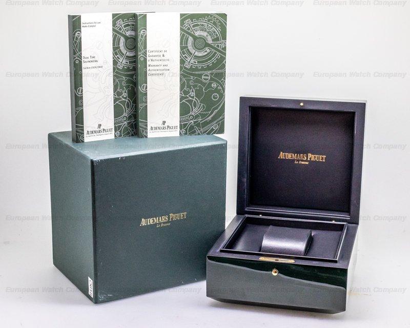 Audemars Piguet 26120OR.OO.D088CR.01 Royal Oak Dual Time 18K Rose Gold / Silver Dial