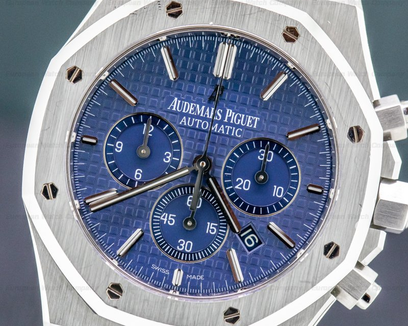 """Audemars Piguet 26320ST.OO.1220ST.03 Royal Oak Chronograph BLUE DIAL """"BOUTIQUE"""" SS 41MM"""
