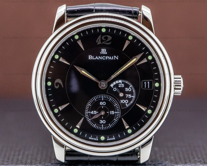 Blancpain 1106-1127-55 Villeret Ultra Slim Power Reserve SS Black Dial