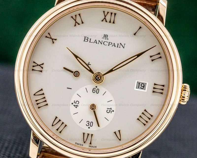 Blancpain 6606-3642-55B Villeret Small Seconds Power Reserve 18k RG Manual Wind 40MM