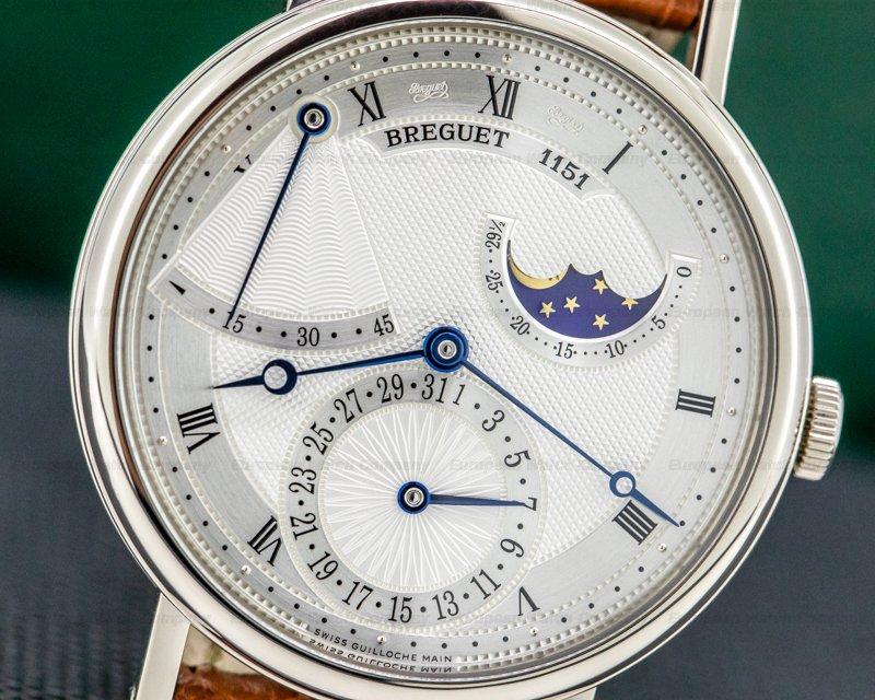 Breguet 7137BB/11/9V6 Classique Power Reserve Moon 18K White Gold