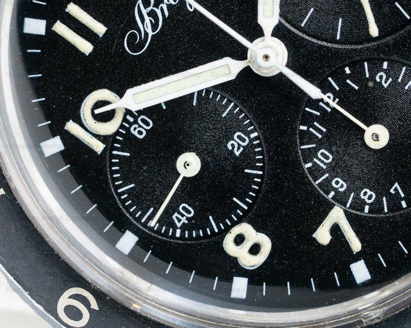 Breguet Type 20 Vintage Type 20 Civilian c. 1971 Three Register Chronograph NICE