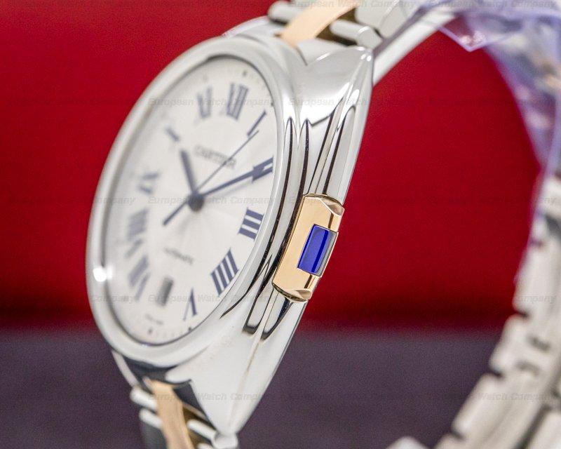 Cartier W2CL0002 Cle De Cartier SS/RG Automatic Silver Dial