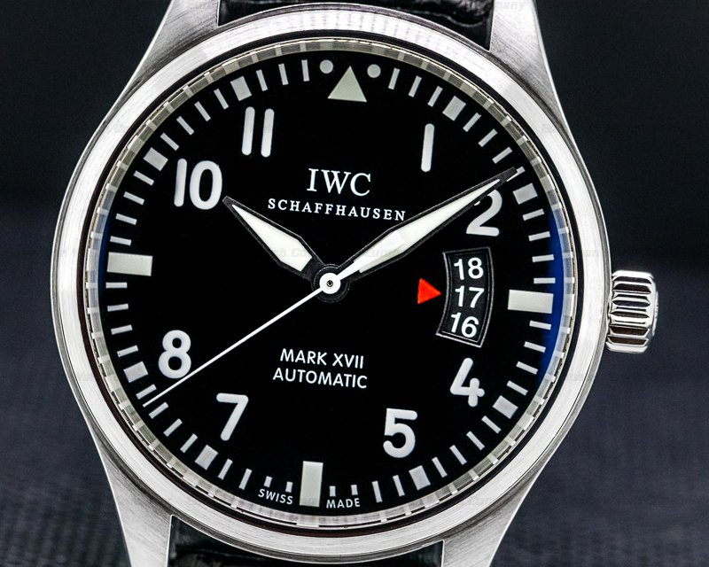 IWC IW326501 Mark XVII Black Dial SS / Alligator