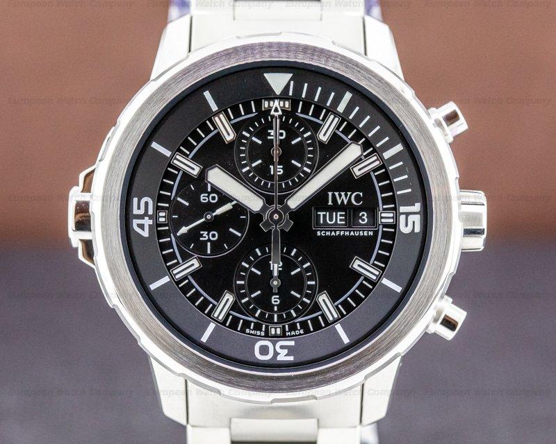 IWC IW376804 Aquatimer Chronograph SS Black Dial