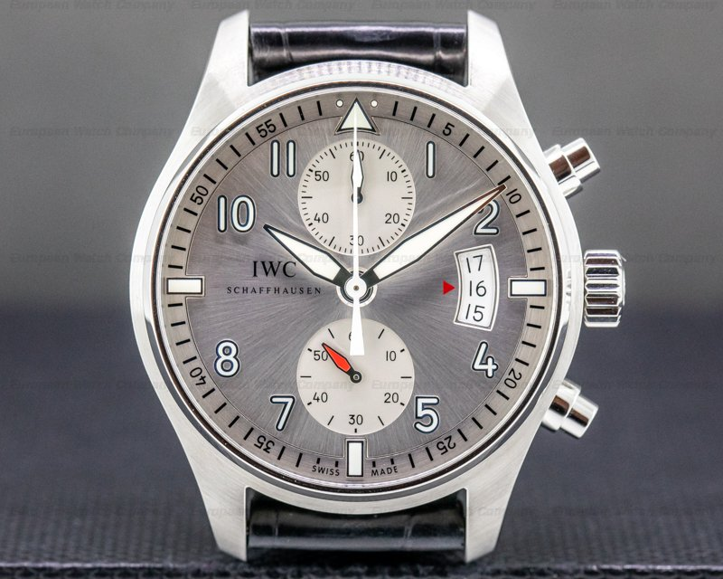 IWC IW387809 Pilot Spitfire Chronograph SS Silver Dial LIMITED