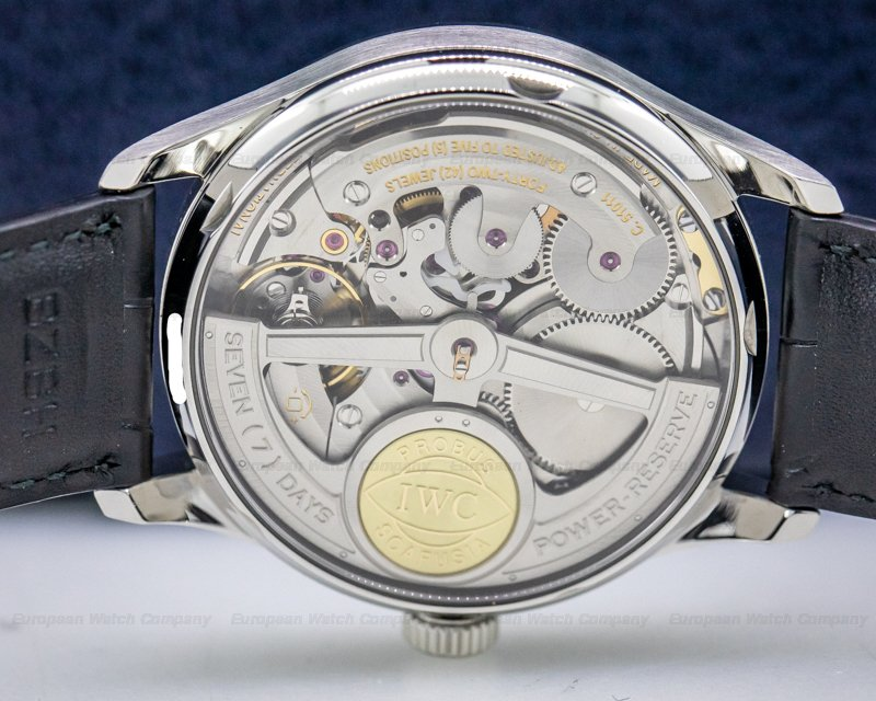 IWC IW500107 Portuguese 7 Day SS / Blue Numerals