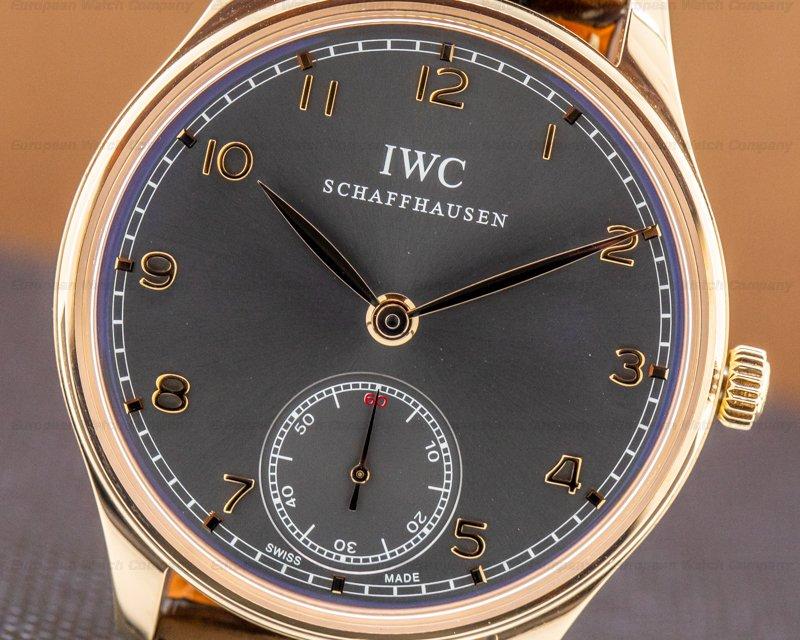 IWC IW545406 Portuguese Hand Wound Silver Dial 18K RG Deployant