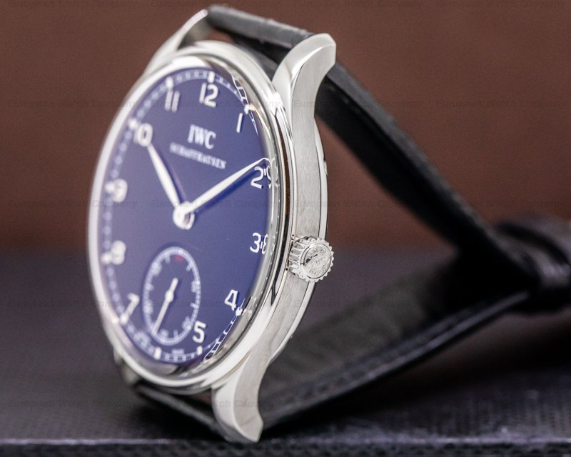 IWC IW545407 Portuguese Hand Wound SS Black Dial