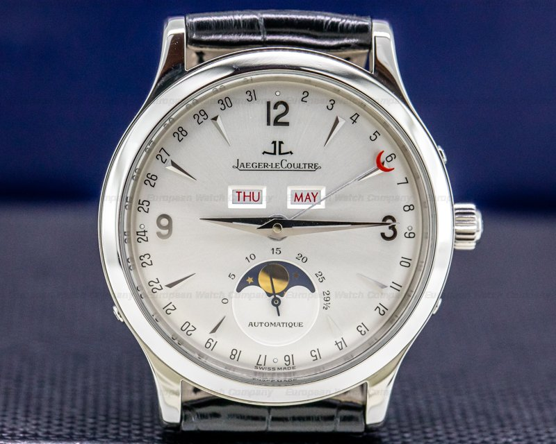 Jaeger LeCoultre 140.8.98.S Master Moon SS Silver Dial