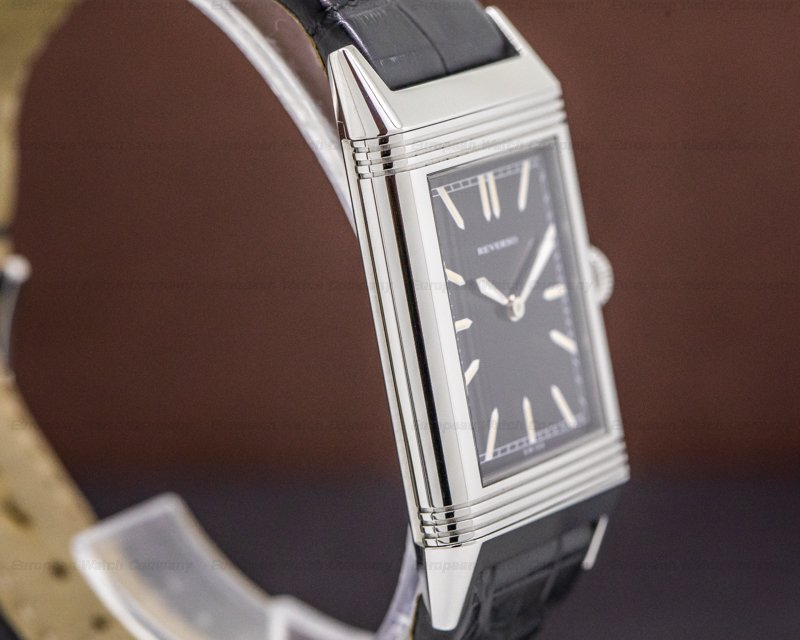 "Jaeger LeCoultre Q2788570 Grande Reverso ""Tribute to 1931"" Ultra Thin SS Black Dial"