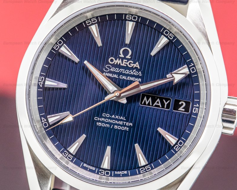 Omega 231.13.39.22.03.001 Aqua Terra Annual Calendar Co-Axial 44mm SS
