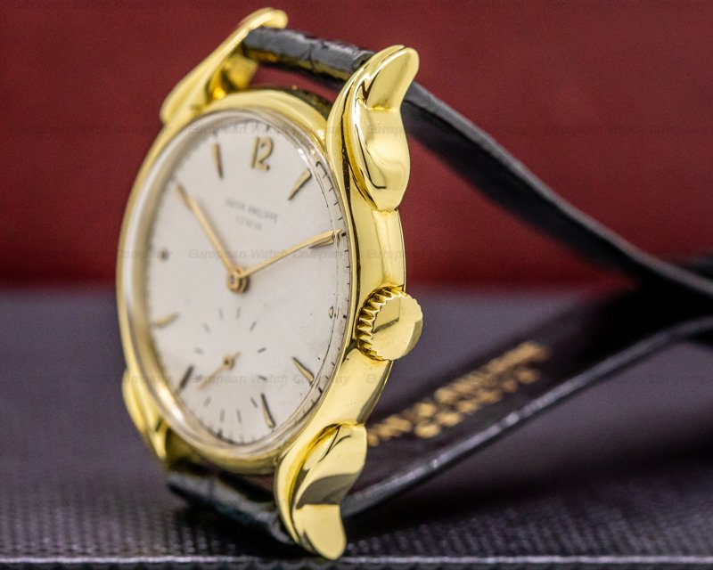 "Patek Philippe 2431 Vintage ""Flame Lugs"" 18k Yellow Gold 1953"