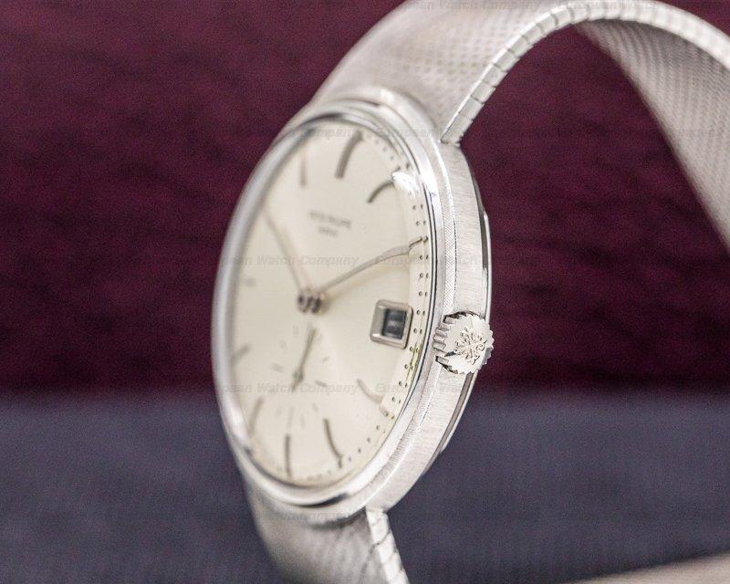 Patek Philippe 3445/6 Vintage Calatrava Automatic 18K White Gold / Silver Dial