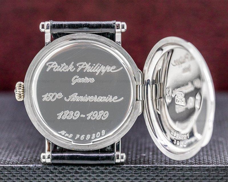 Patek Philippe 3960G Calatrava 3960G '150th Anniversary' 18K White Gold RARE FULL SET
