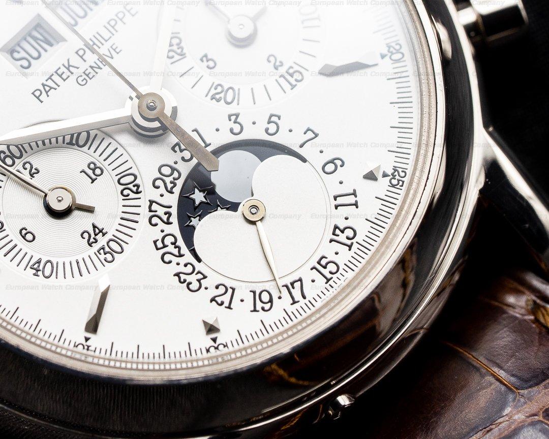 Patek Philippe 3970EG-016 Perpetual Calendar 3970G Chronograph 18K White Gold / Silver Dial