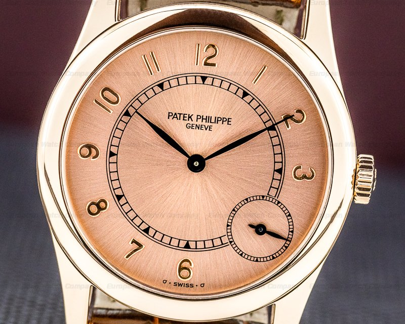 Patek Philippe 5000R-001 Calatrava Automatic 18K Rose Gold / Pink Dial