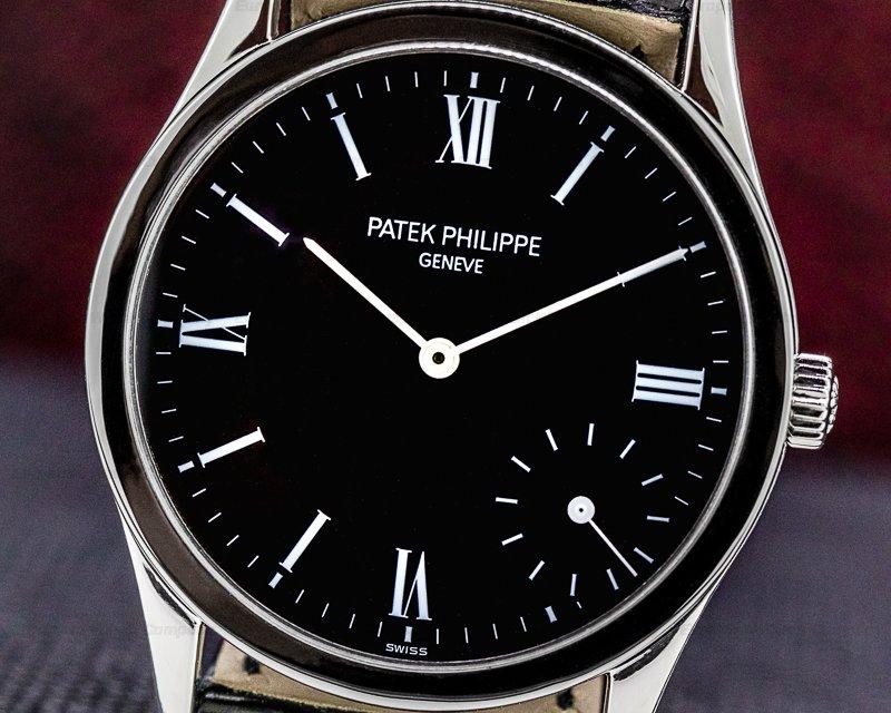 Patek Philippe 5026P-011 Calatrava 5026P Automatic Black Dial Platinum RARE