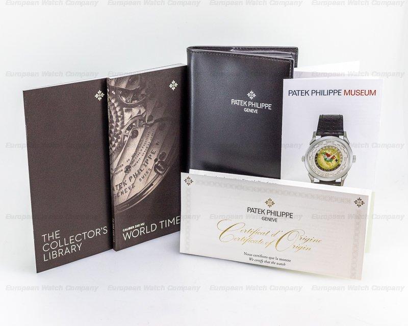 Patek Philippe 5131/1P-001 World Time 5131P Enamel Dial PLATINUM / Bracelet