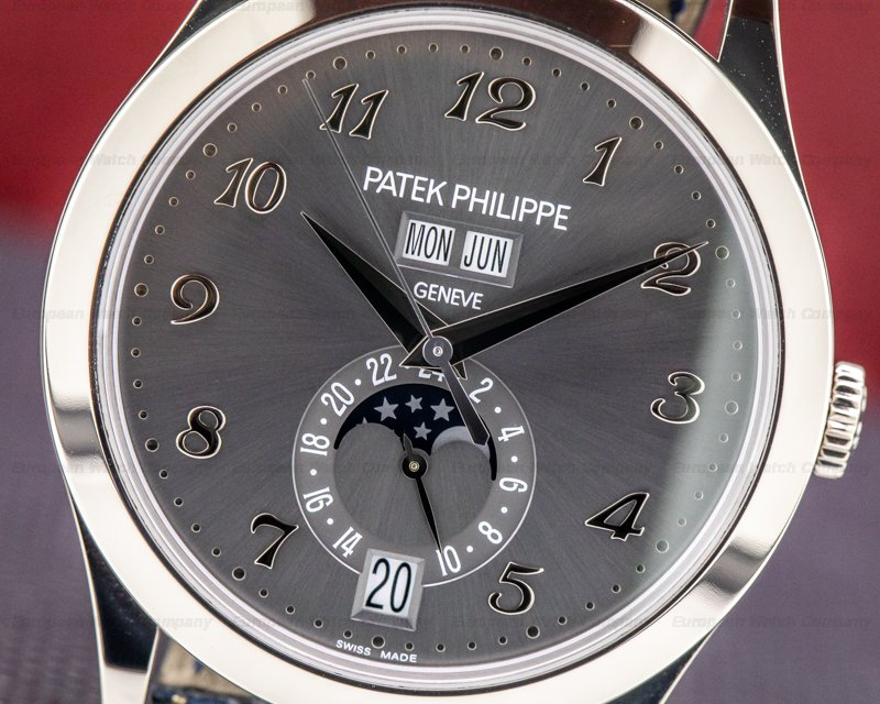 Patek Philippe 5396G-014 Annual Calendar Anthracite Dial 18K White Gold