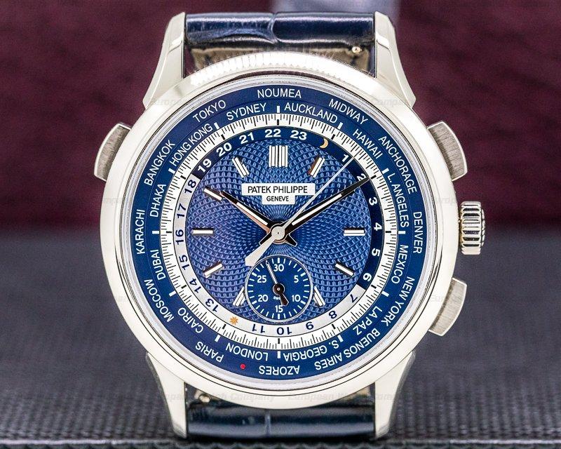 Patek Philippe 5930G-001 World Time Chronograph 18k White Gold