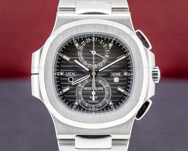 Patek Philippe 5990/1A-001 TIFFANY Nautilus 5990 Travel Time TIFFANY & CO Chronograph GMT