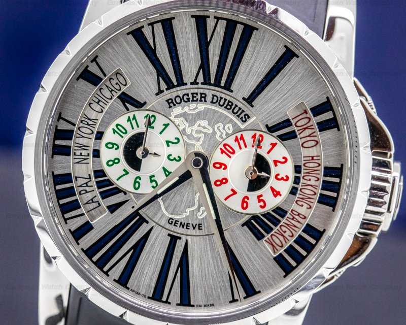 Roger Dubuis EX45 1448 9 3.7ATT/28 Excalibur Triple Time Zone SS Limited UNWORN