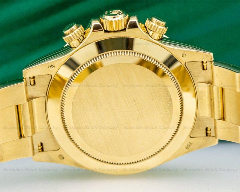 Rolex 116508 Daytona 116508 Black Diamond Dial Yellow Gold / Bracelet