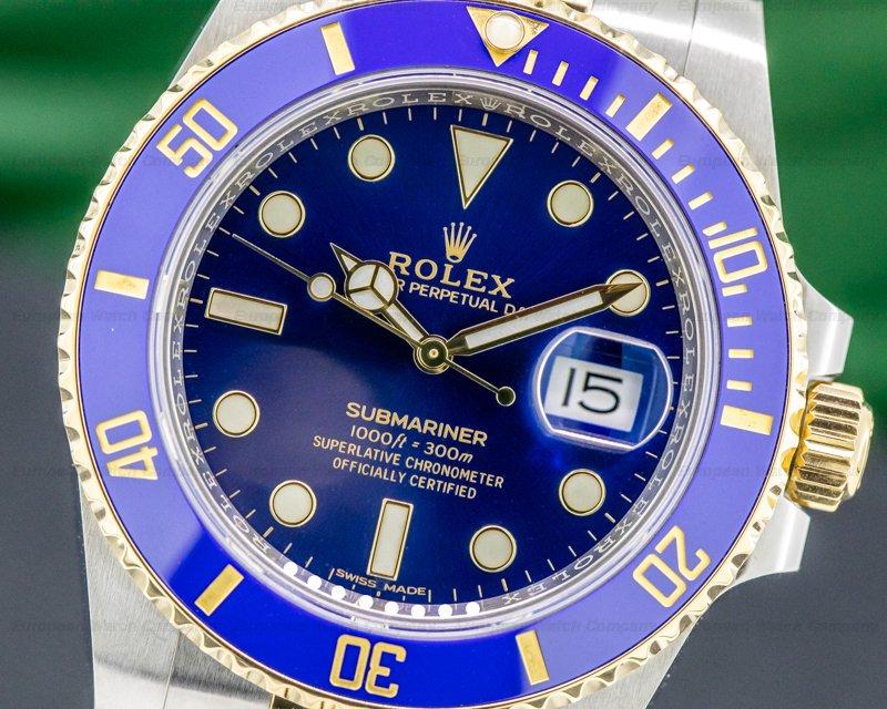 Rolex 116613LB Submariner Ceramic Blue Dial 18K / SS 2019