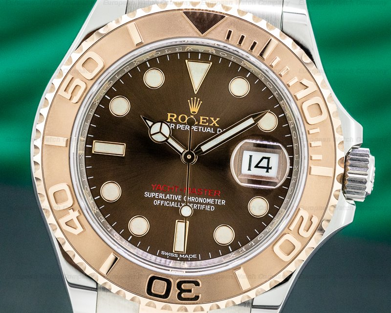Rolex 116621 Yacht Master 116621 18K / SS Chocolate Dial