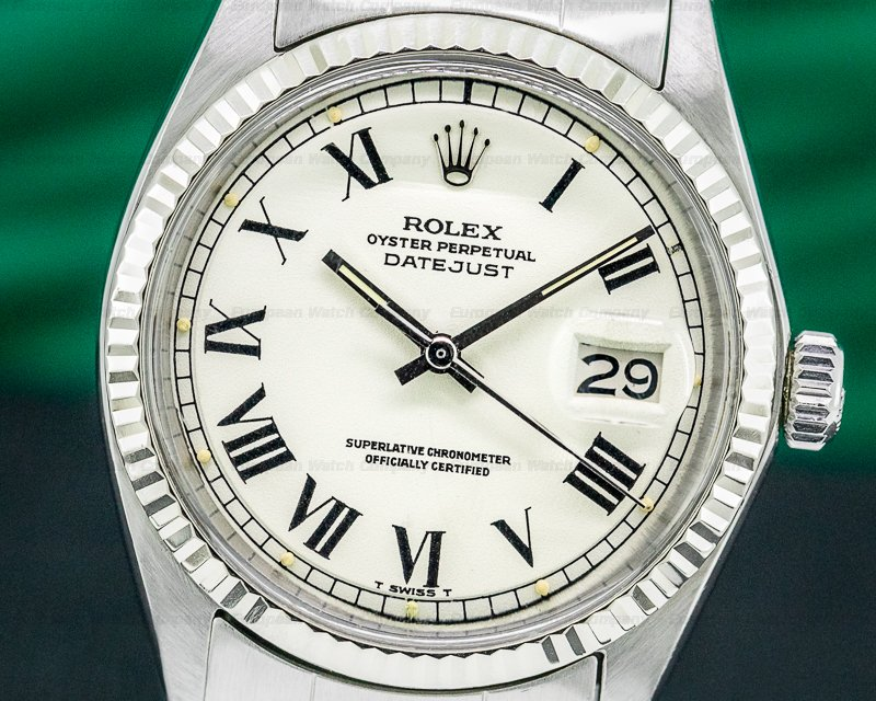 """Rolex 1601 Datejust """"Buckley Dial"""" SS / Oyster"""