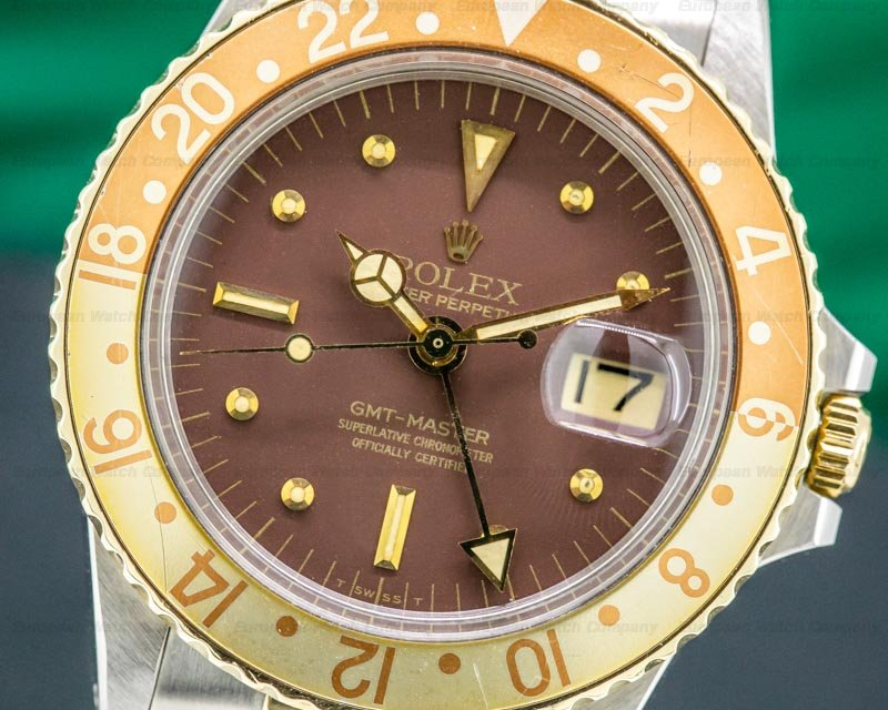 "Rolex 1675 GMT Master Brown Nipple Dial ""Root Beer"" Bezel NICE"