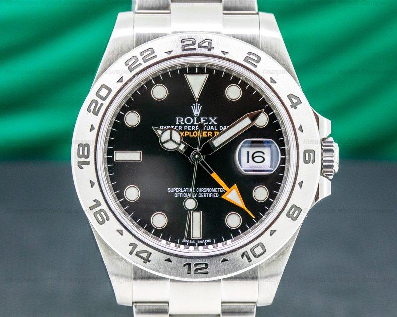 Rolex 216570 Explorer II Black Dial SS