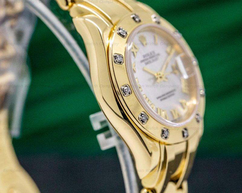 Rolex 80318 Ladies Datejust Pearlmaster Masterpiece Champagne 18K YG