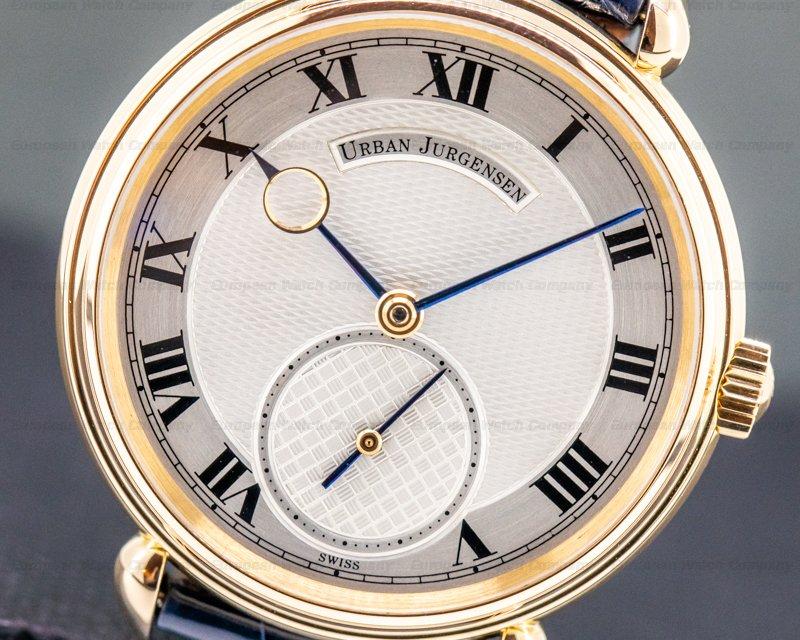 Urban Jurgensen 11L 11L 18k Rose Gold Silver Dial / Roman Numerals