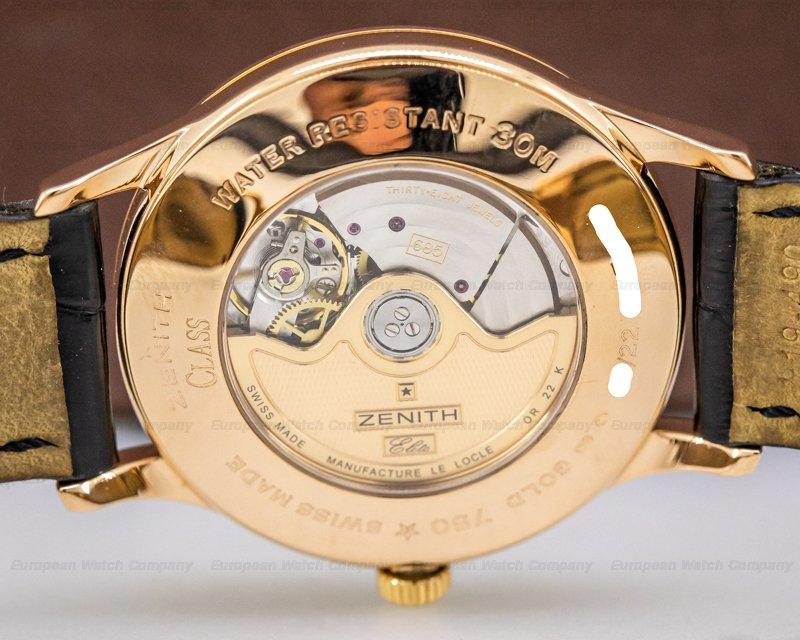 Zenith 18.1125.685/01.C490 Class Elite Reserve de Marche 18K Rose Gold
