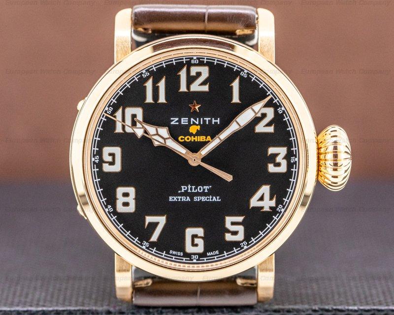 Zenith 18.2430.679/27.C721 Pilot Type 20 COHIBA Edition 18K Rose Gold Limited