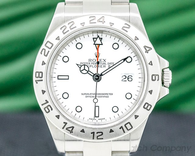 Rolex 16570 Explorer II White Dial FULL SET