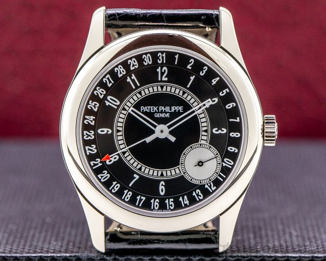 Patek Philippe 6006G-001 Calatrava Black Dial 18K White Gold / Deployant DISCONTINUED