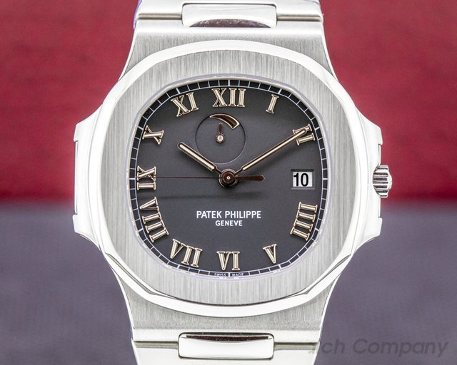 "Patek Philippe 3710/1A-001 Nautilus 3710 ""Comet"" SS / SS Black Dial FULL SET PP SERVICED"