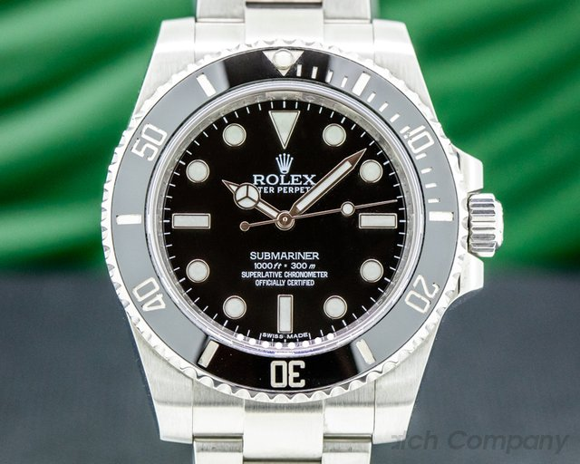 Rolex 114060 Submariner 114060 No Date Ceramic Bezel SS