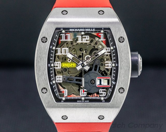Richard Mille RM029 Richard Mille RM29 Automatic Oversize Date Titanium / Red Rubber