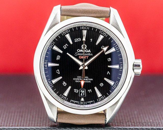 Omega 231.13.43.22.01.001 Aqua Terra GMT Black Dial 43MM