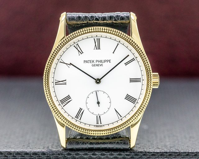Patek Philippe 3796 D Calatrava Manual Wind 18K Yellow Gold Hobnail