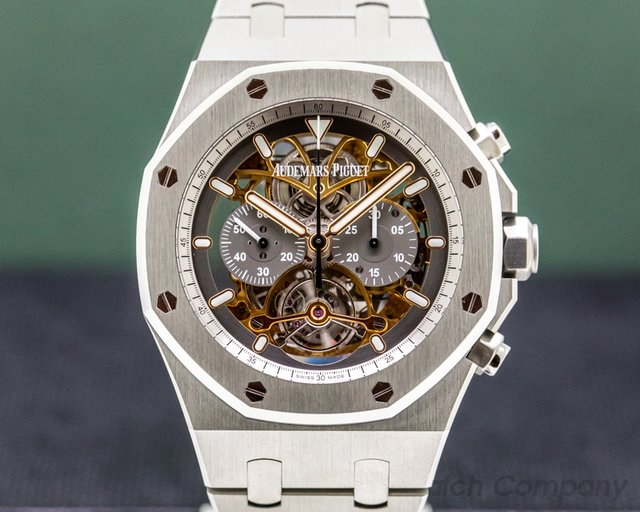 "Audemars Piguet 26347TI.OO.1205TI.01 Royal Oak Tourbillon Chronograph Openworked ""Material Good"" Edition"